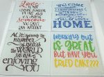 Glass coffee/tea coaster family rules quote